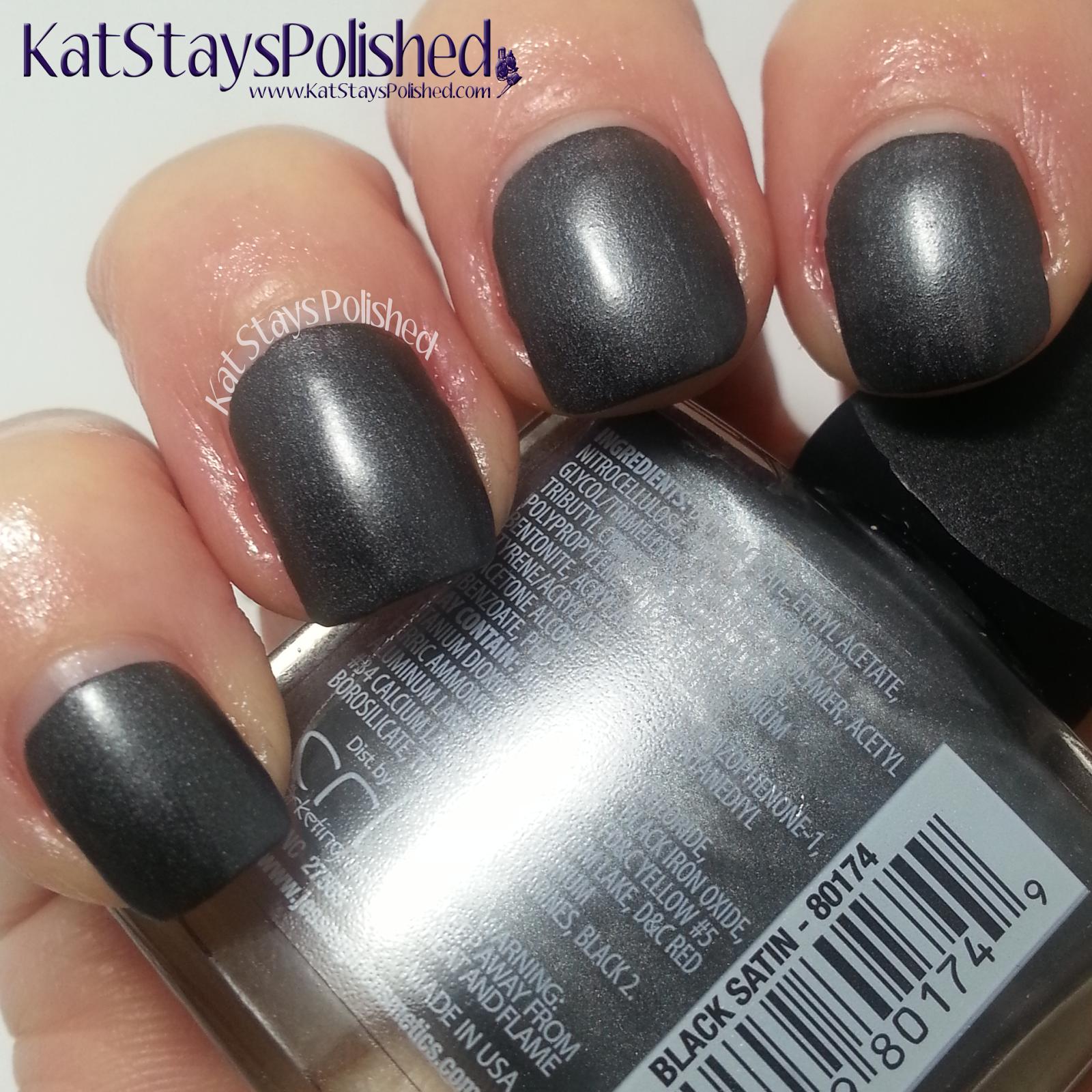 Jesse\'s Girl Satin Nail Color - Black Satin | Kat Stays Polished ...