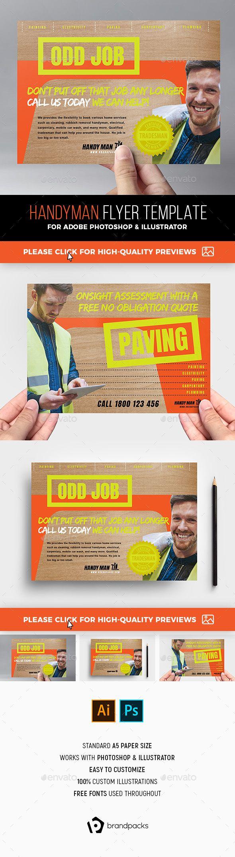a5 handyman flyer template for photoshop illustratoran a5 flyer
