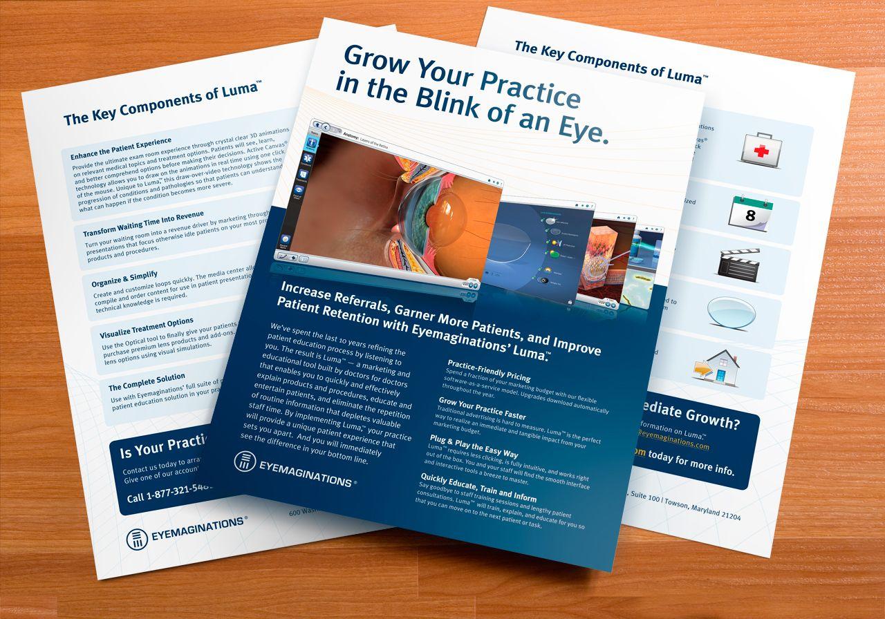 Eyemaginations: Luma Product Sales Sheet | Print Design ...