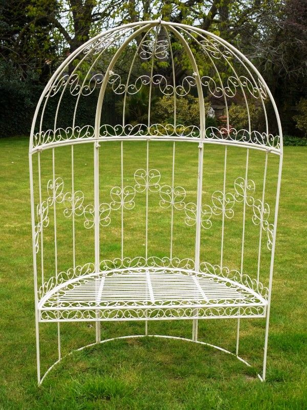 Remarkable Dome Top Wrought Iron Antique French Style Garden Arbour Squirreltailoven Fun Painted Chair Ideas Images Squirreltailovenorg