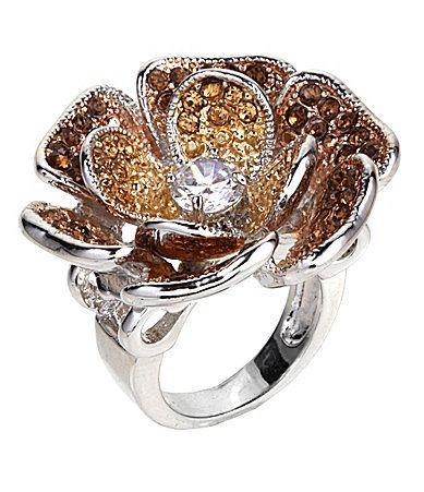 Tivoli Glitz Flower Ring Dillards