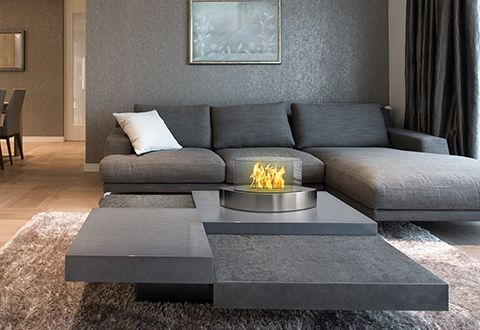 Tabletop Fireplace Interiores Mesas