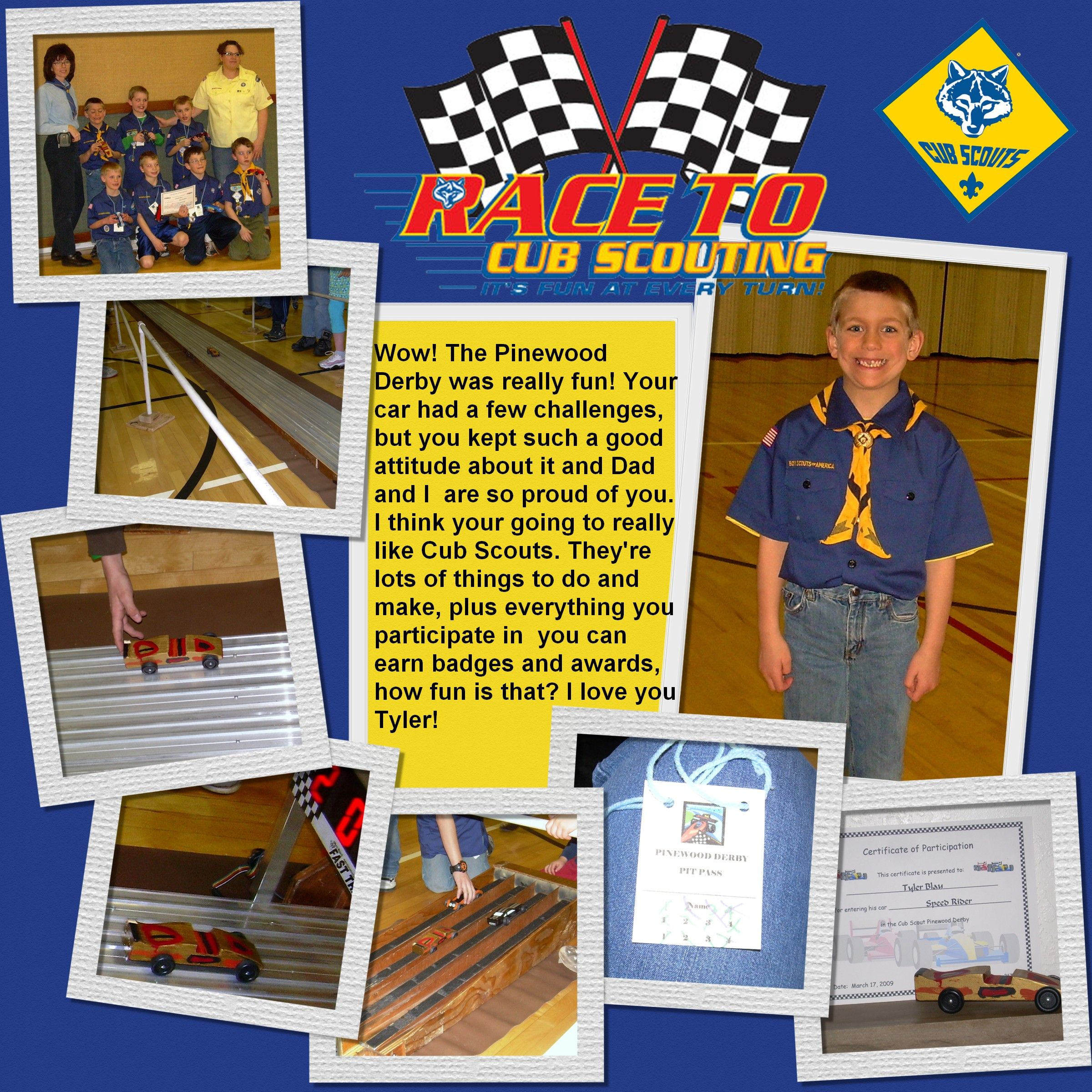 Boy Scout Scrapbook Page Layouts Page Scraphappenss