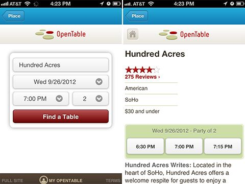 You Can Now Make Restaurant Reservations via Foursquare Android - reservation forms in pdf