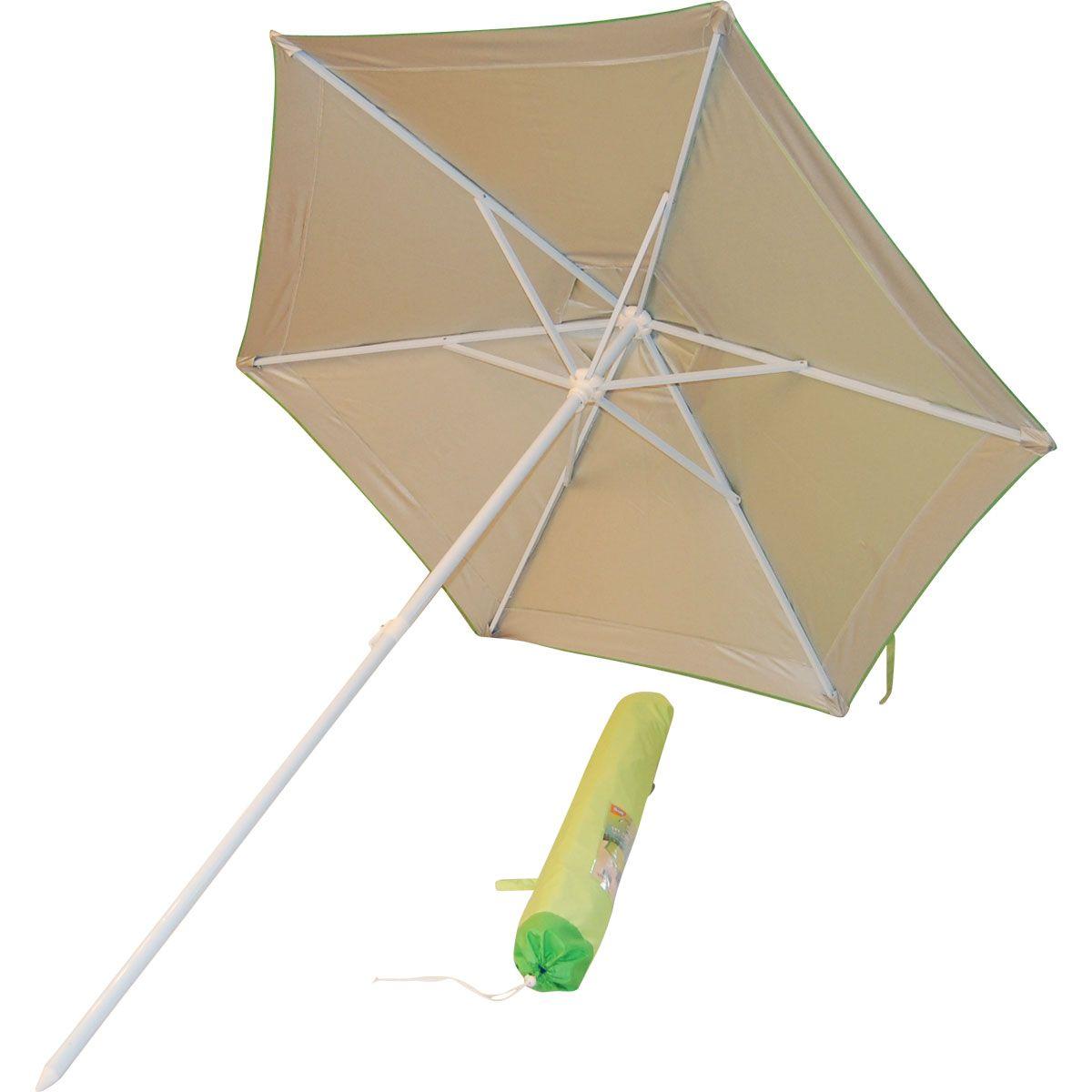 Market Style SPF 35 Vented Beach/Patio Umbrella   Green |