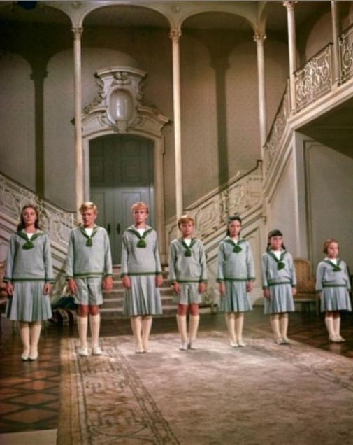 The Von Trapp children in The Sound of Music 1965
