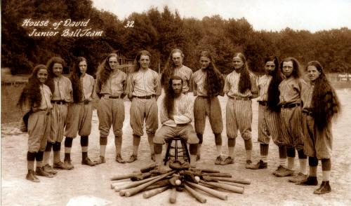 House Of David Baseball Team This Team Holds A Place Of Honor To Baseball Historians House Of David Baseball Team Michigan
