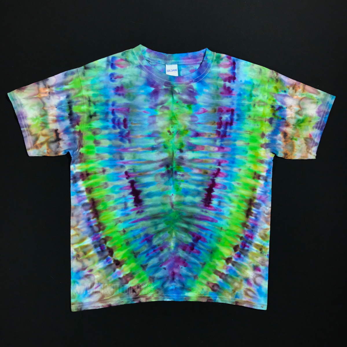 f32ebdca859b Size Youth Large Tie Dye Shirt • Psychedelic Symmetry Ice Dye Design –  DetroitTieDyeCo.