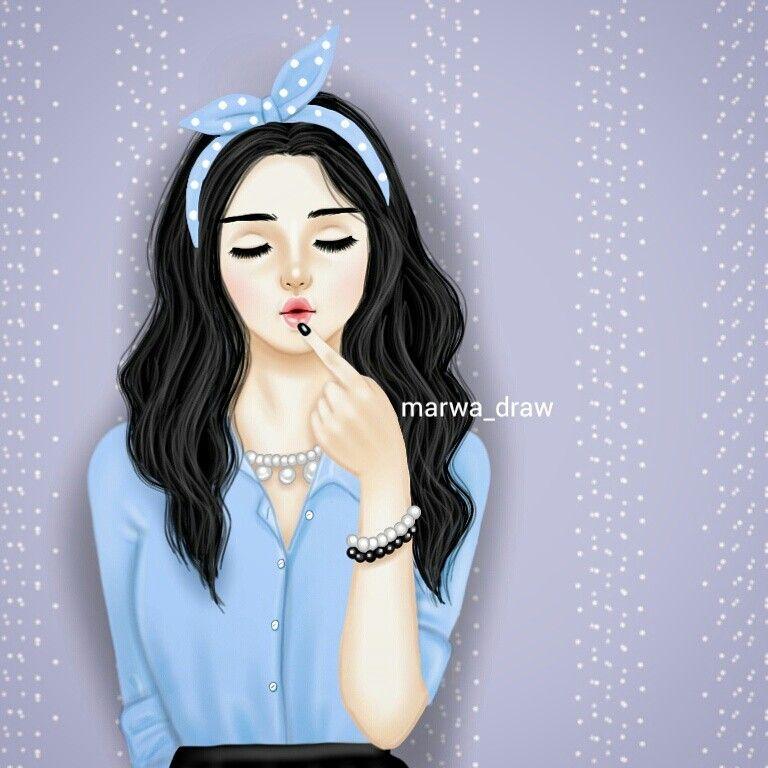 Marwa Draw Cute Girl Drawing Art Girl Girly Drawings