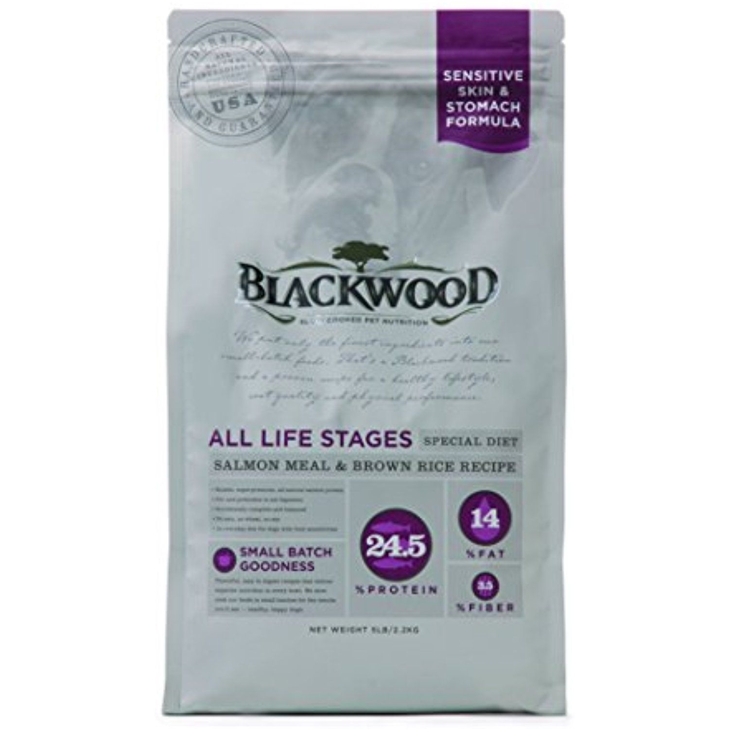 Blackwood Pet Food 075492054442 Salmon Meal Recipe Sensitive