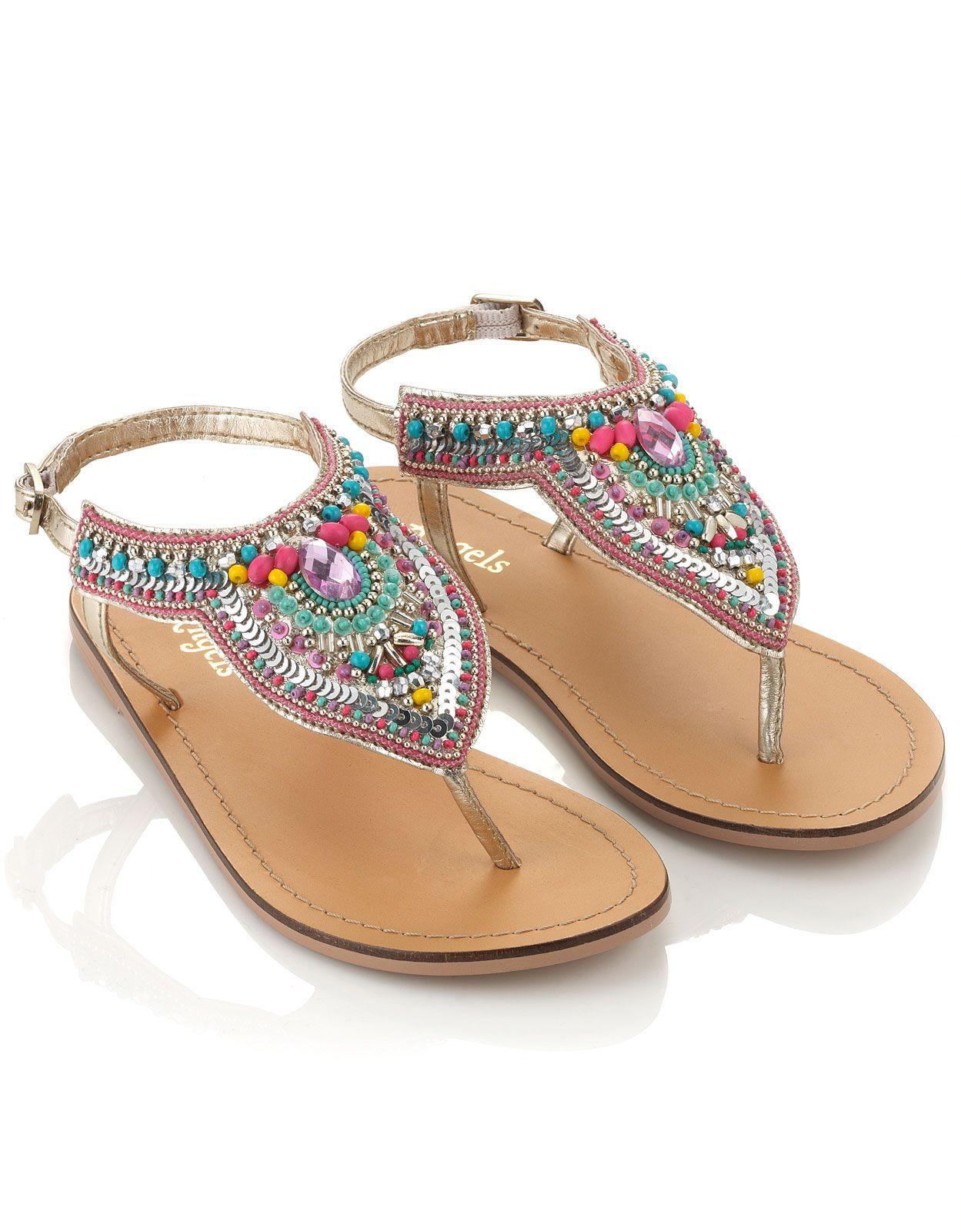 83824a7ba Coloured Beaded Sandals
