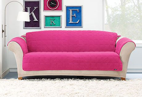 Bright Suede sofa cover /Sure Fit | Sofa/Seat covers | Pinterest ...