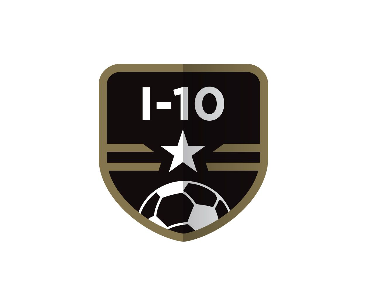 custom soccer crest design for i 10 futbol alliance by jordan fretz