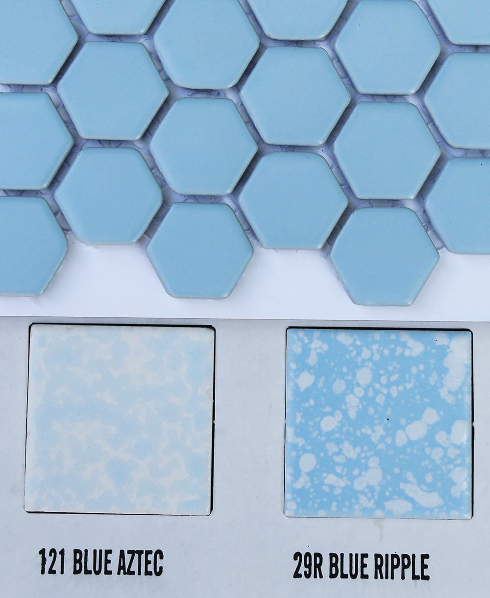 2 new porcelain hex tile floor options for your vintage pastel ...