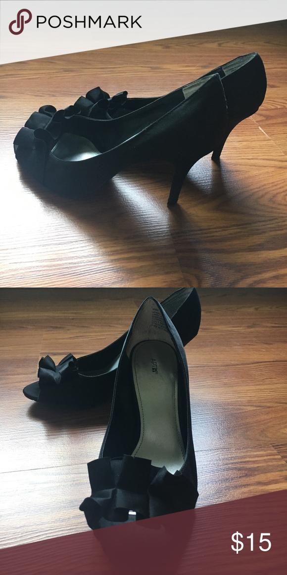 Apt.9 black peep toe heels Worn once