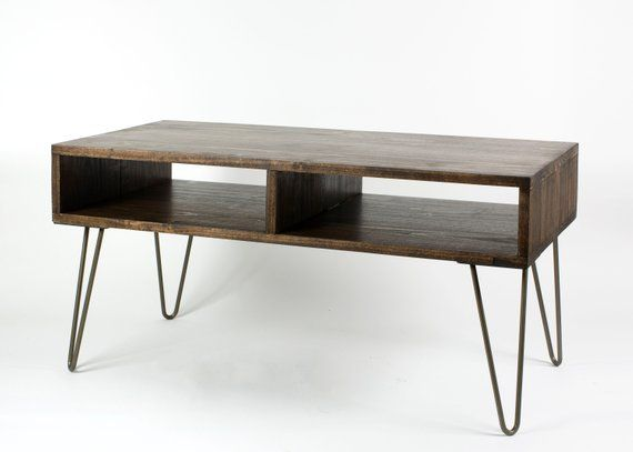 Minimalist Coffee Table With Metal Hairpin Legs Mid Century Etsy In 2020 Minimalist Coffee Table Coffee Table Mid Century Modern Coffee Table