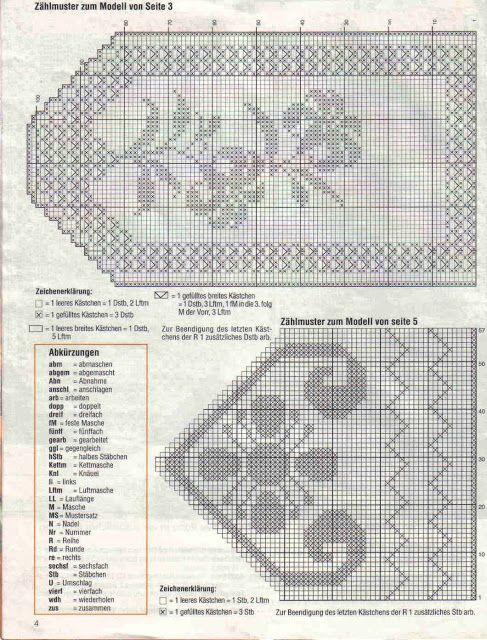 10 patrones de cenefas crochet filet | Cortinas | Pinterest | Filet ...