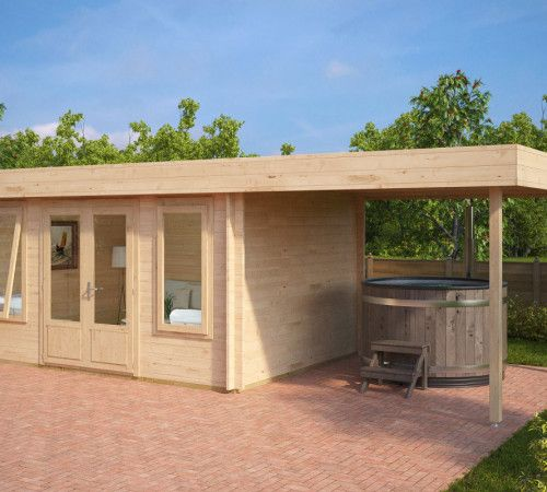 modernes holz gartenhaus mit terrasse jacob d gartenh uschen pinterest. Black Bedroom Furniture Sets. Home Design Ideas