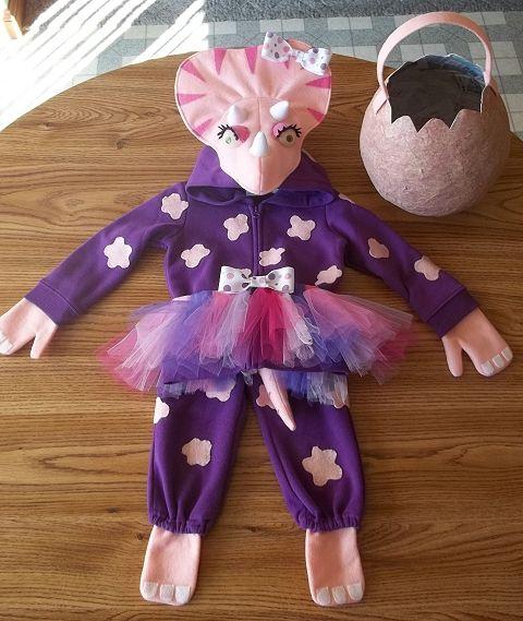 bac22232e3de2 Kinzley's Baby Girl Triceratops Halloween Costume | Cosplay ...