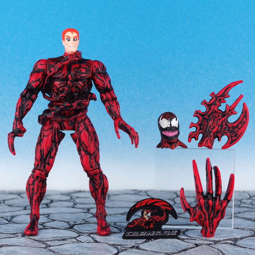 spiderman animated series carnage unleashed action figure
