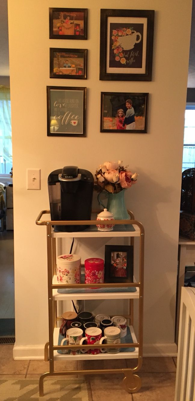 Ikea Sunnersta Cart Spray Painted Gold Perfect Coffee Cart Bar Cart Decor Coffee Carts