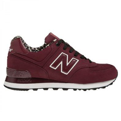 New Balance Classic Traditionnels 574 Burgundy Womens Trainers Size 7 UK:  Amazon.co.