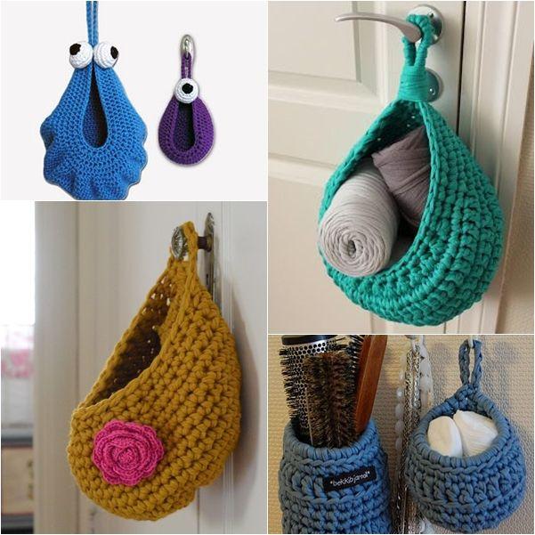 Artesanato: Crochê feito com fio de malha