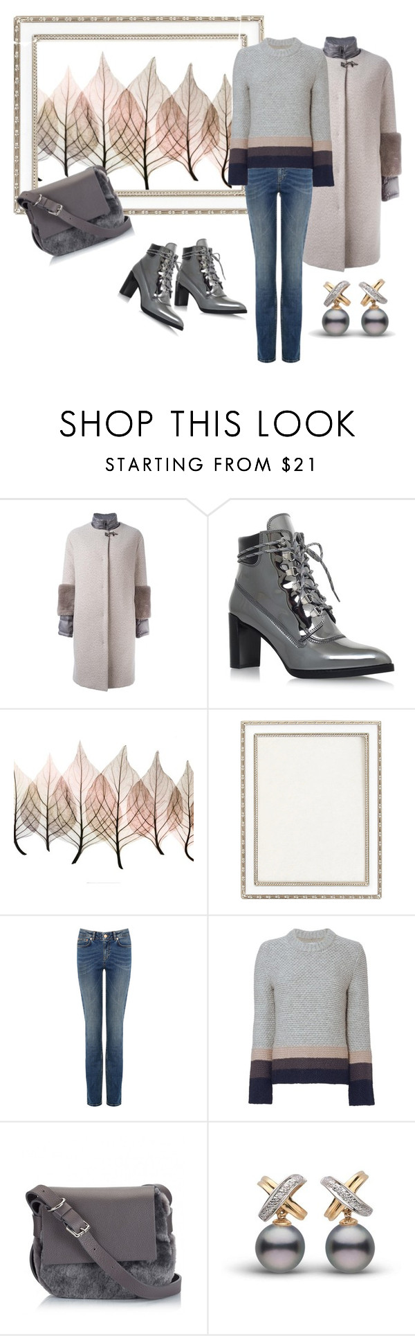 """Lovely grey!!"" by bv-b ❤ liked on Polyvore featuring FAY, Stuart Weitzman, Artistica, Haffke and Brochu Walker"
