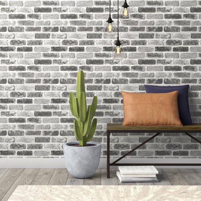 Rosalinda Washed Faux Brick 18 L X 20 5 W Peel And Stick Wallpaper Roll Decoracion De Habitaciones Decoracion Recamara Muros