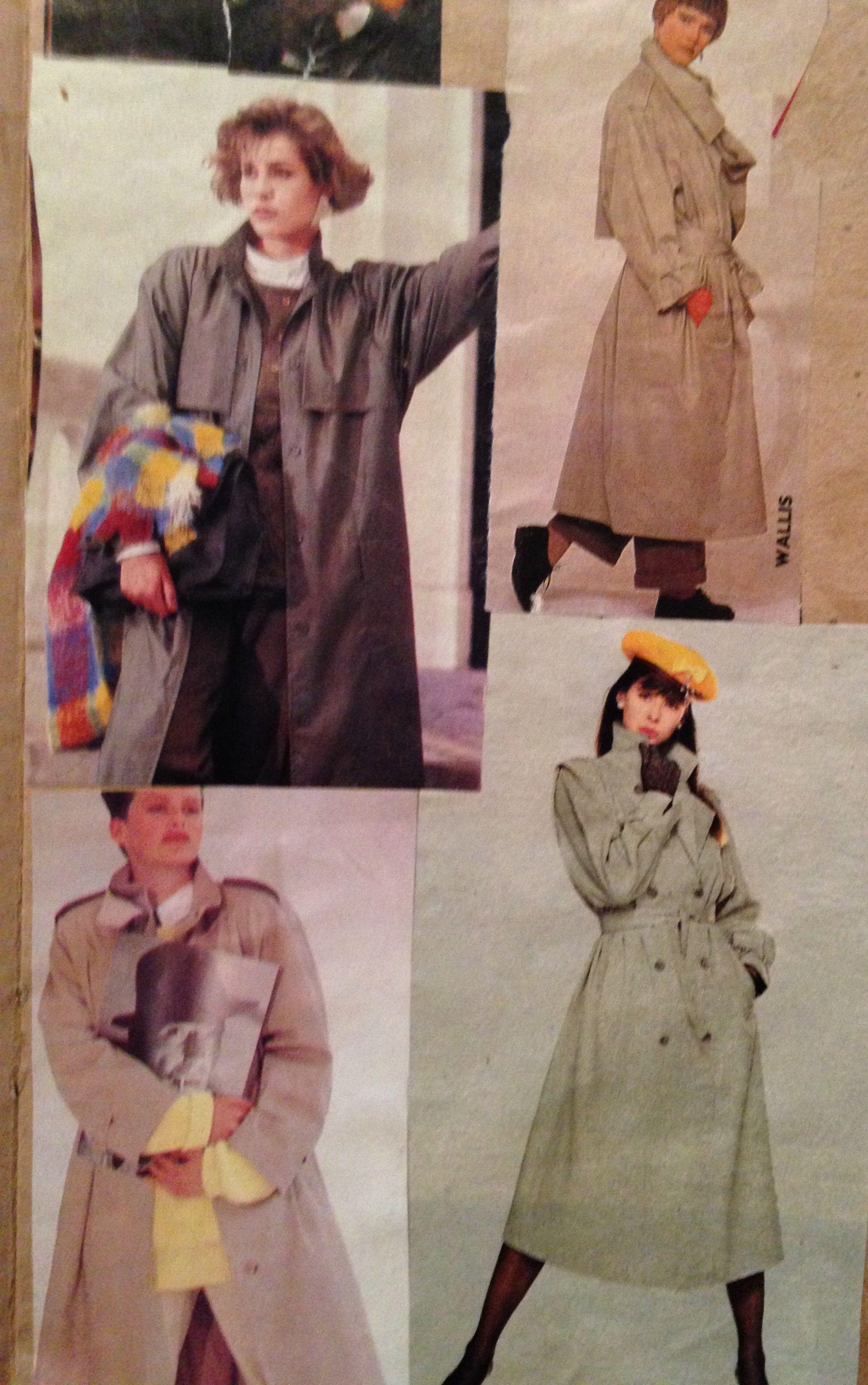1985 fashion UK raincoats