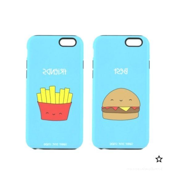 Buy Amazon: /31eDJmn Phone Case Funny Best Friends BFF iPhone Cases Gift For Friend Her Hamburger Fri...,