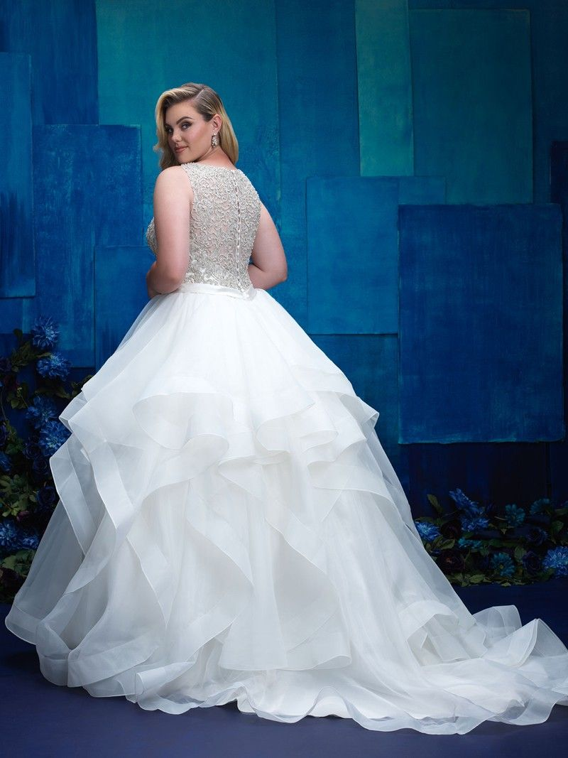 Allure Bridals W393 Plus Size Bridal Dress Weddingdresses Wedding Bride Allurebridals Allure Plussize Wed Plus Size Bridal Dresses Allure Bridal Bridal [ 1067 x 800 Pixel ]