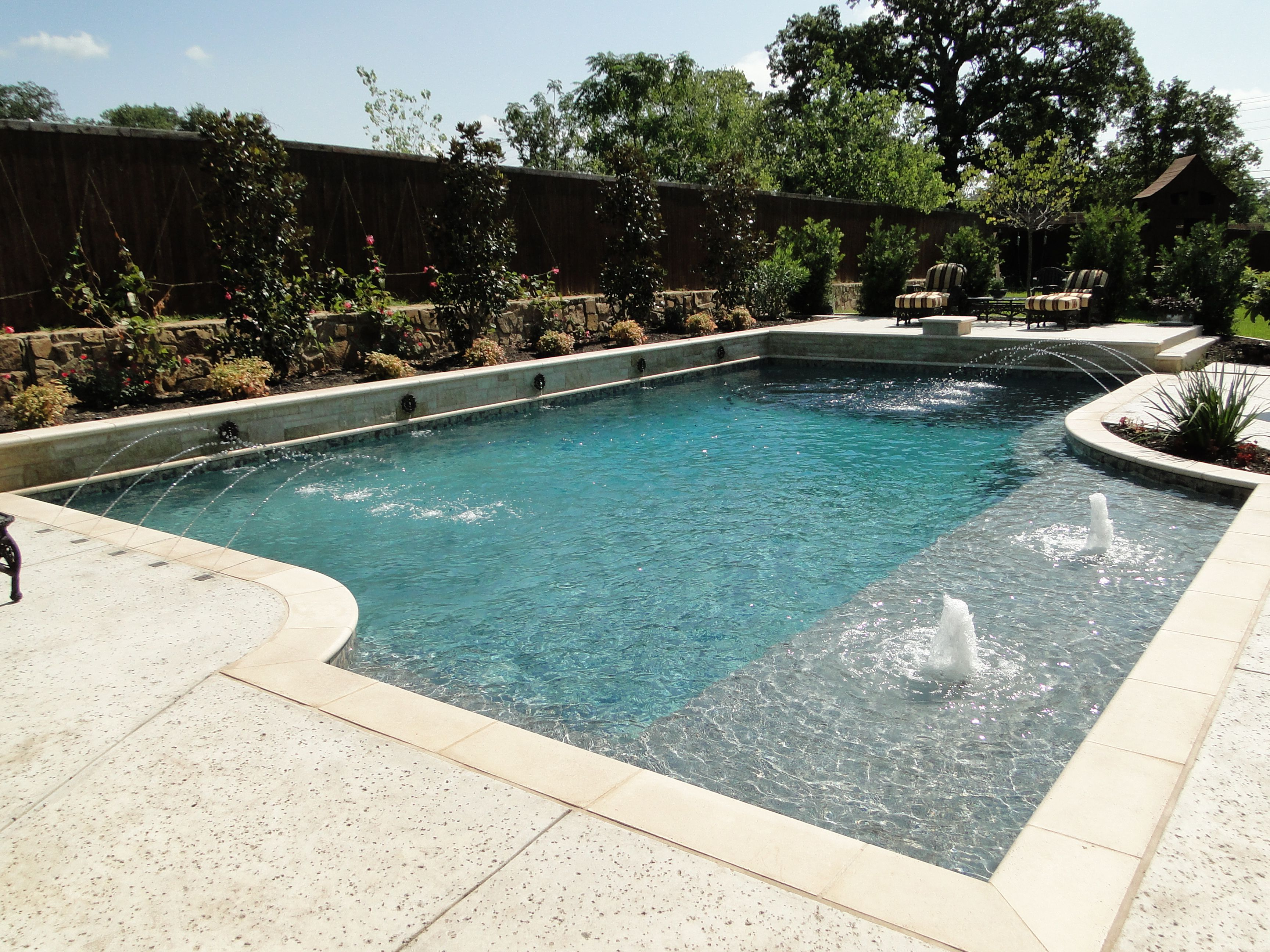 florida style rectangular pool watercrest pools and outdoor living swimming pool designsswimming