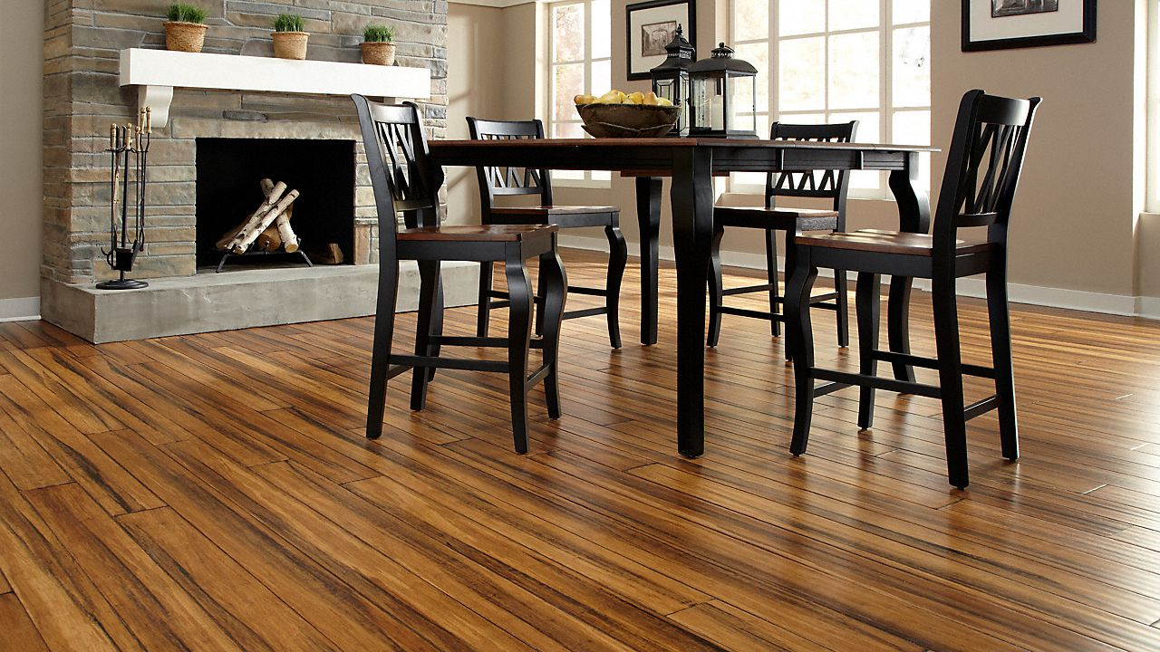 Bamboo Flooring Antique Strand Smooth Wide Plank Click
