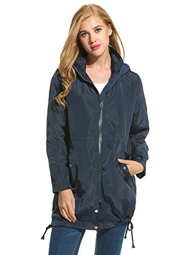 7479e3241 Sholdnut Women Waterproof Lightweight Rain Jacket Outdoor Hooded ...
