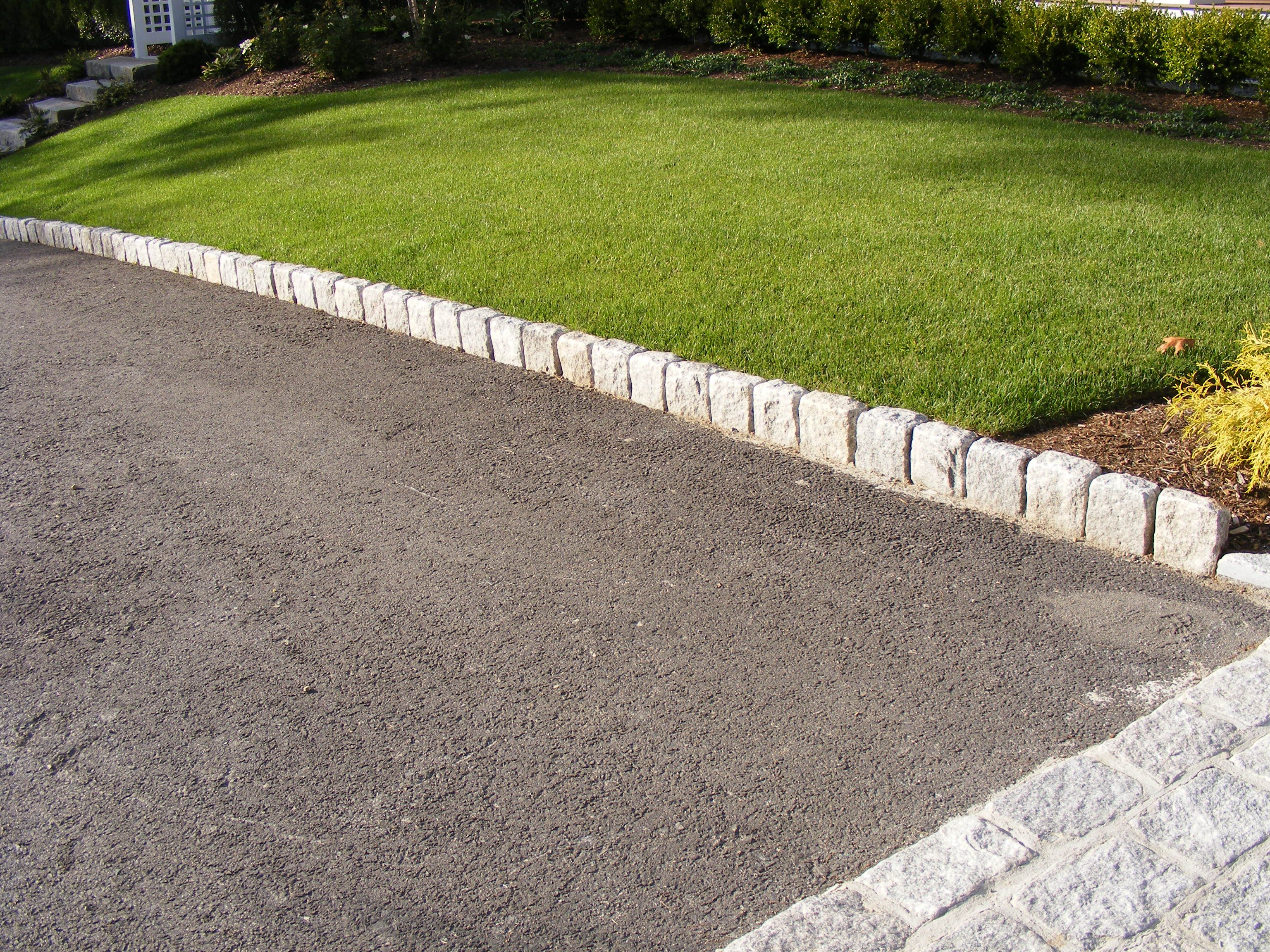 Driveway Edging Jumbo Cobblestones Used As Driveway