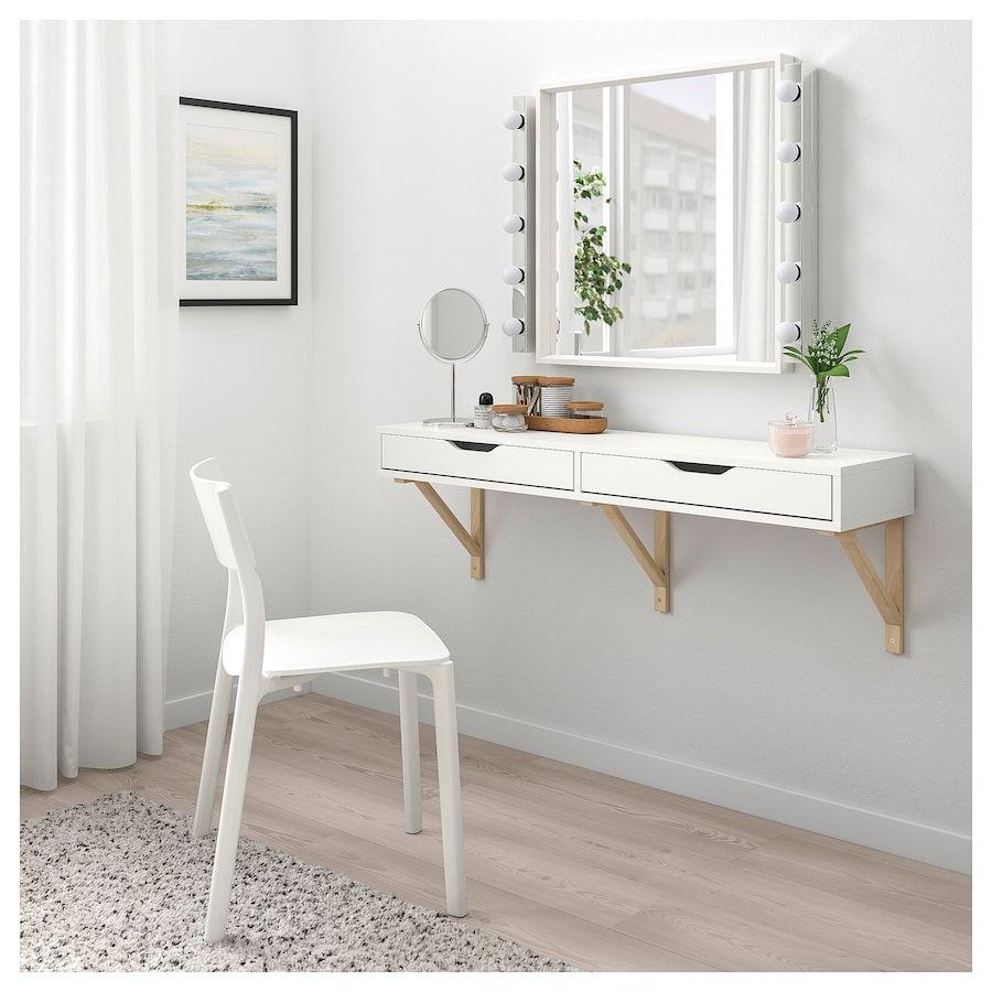 Ekby Alex Shelf With Drawers White 46 7 8x11 3 8 Wall Shelf With Drawer Ikea Wall Shelves Drawer Shelves
