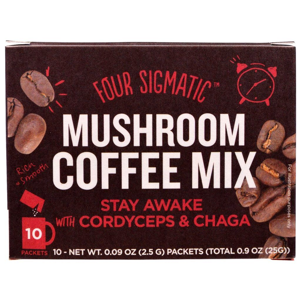 Four Sigmatic Mushroom Coffee Mix with Cordyceps & Chaga Review (bought from iHerb) - http://pusabase.com/blog/2016/10/19/four-sigmatic-mushroom-coffee-mix-review/