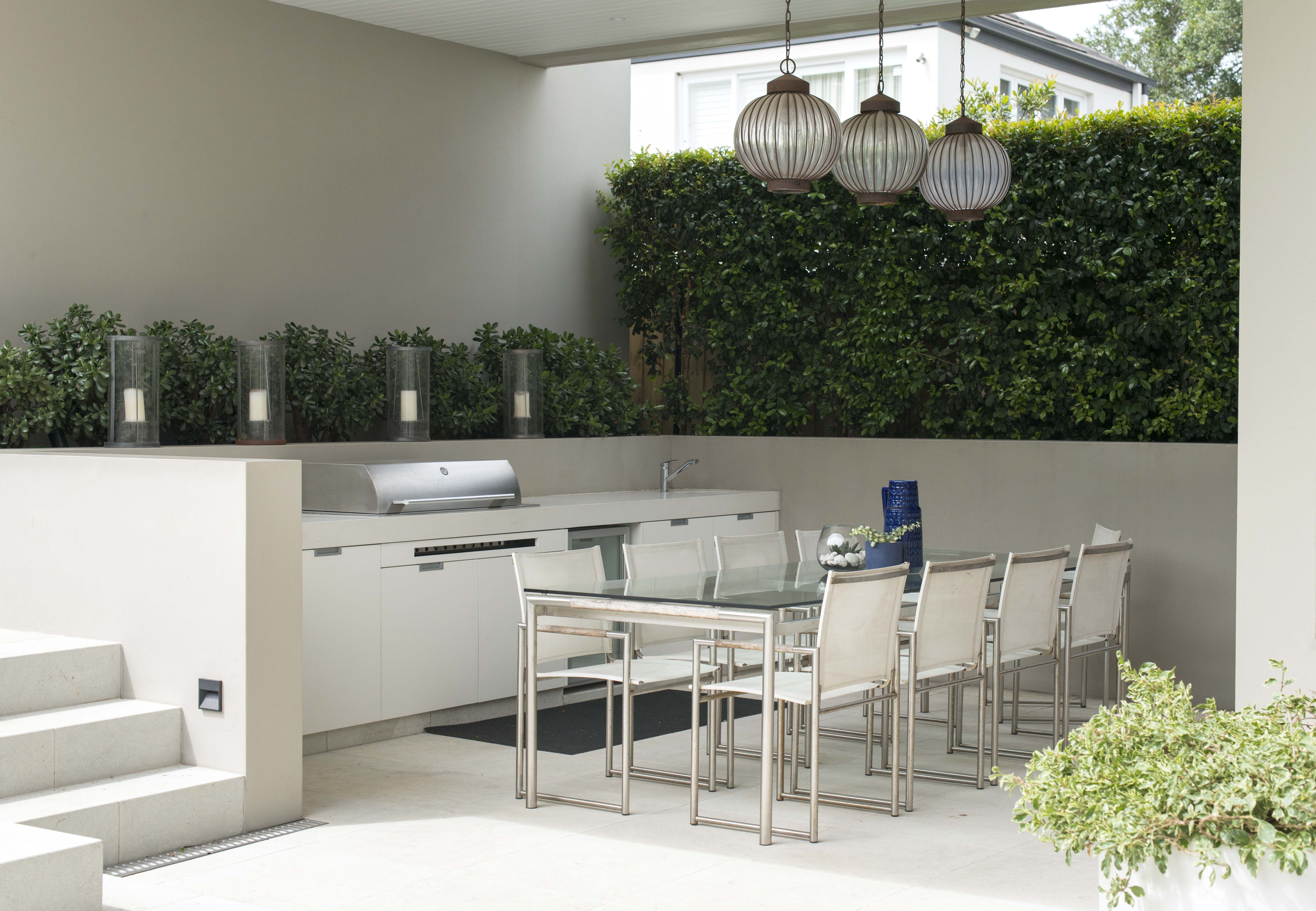 Undercover BBQ and entertainment area | Ogrody on Garden Entertainment Area Ideas id=14517