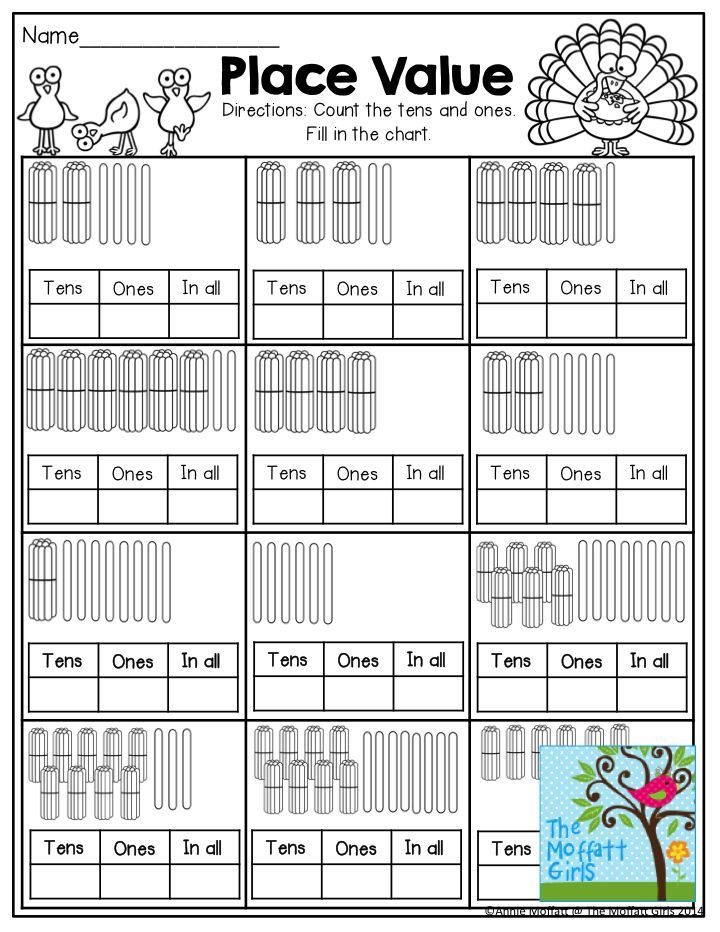 2nd Grade tens and ones worksheets 2nd grade : Place Value- Fill in the tens, ones and in all boxes by counting ...