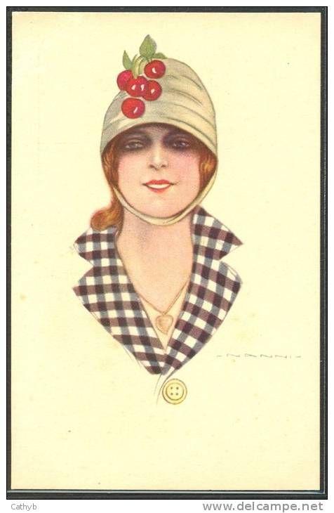 HZ185 a/s NANNI ART DECO FASHION LADY HAT w CHERRIES ...