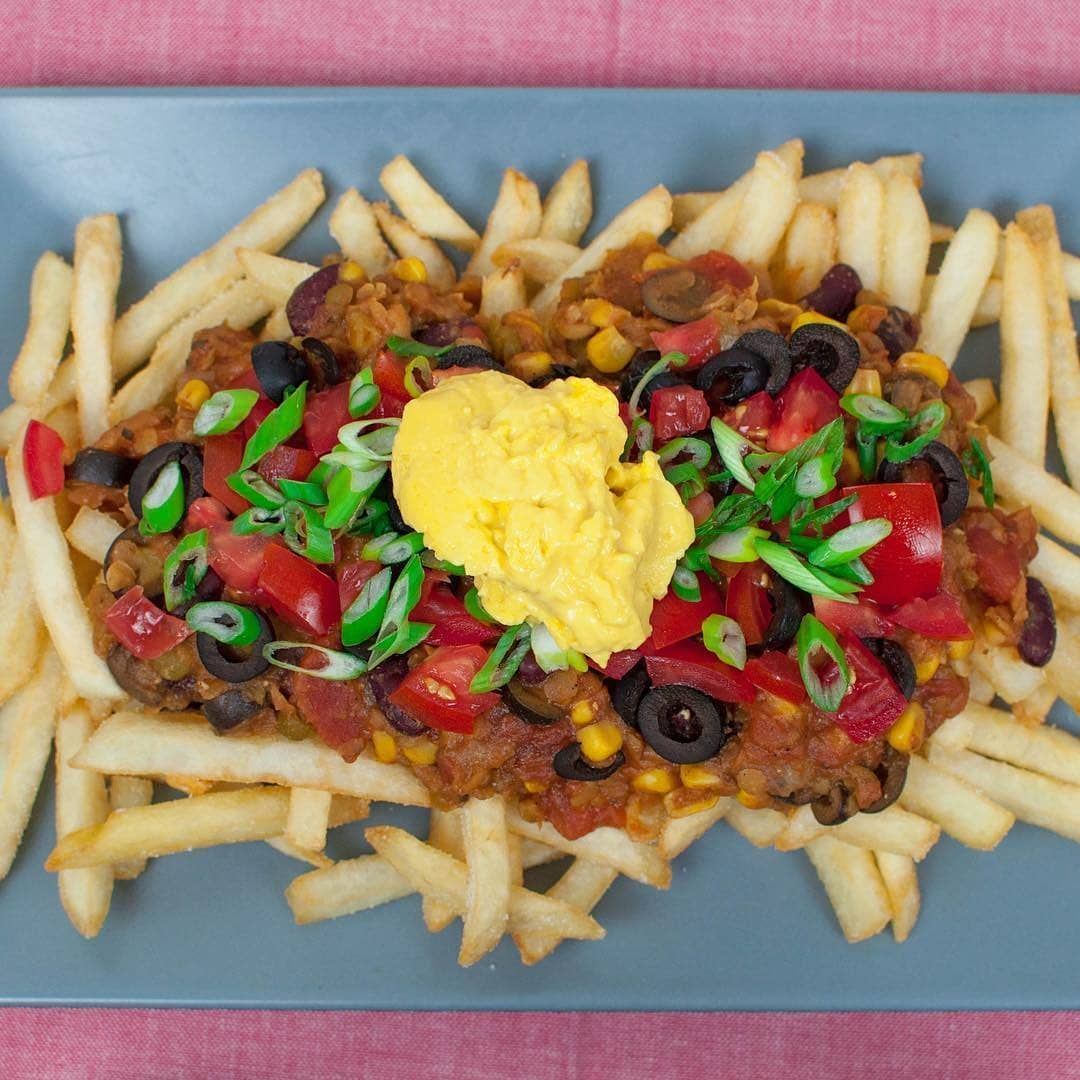 Vegan Chili Cheese Fries Yay Or Nay Let Me Know Down Below Personally I Love Them I Ve Also Discov Nachos Cheese Recipe Vegan Cheese Recipes Vegan Chili