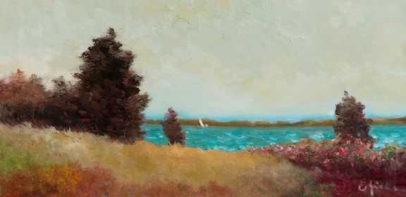 Pines With A View By Ed Hicks 12 X24 Oil Available At Maine Art Paintings Sculpture Art Portland Art Galleries Art Painting