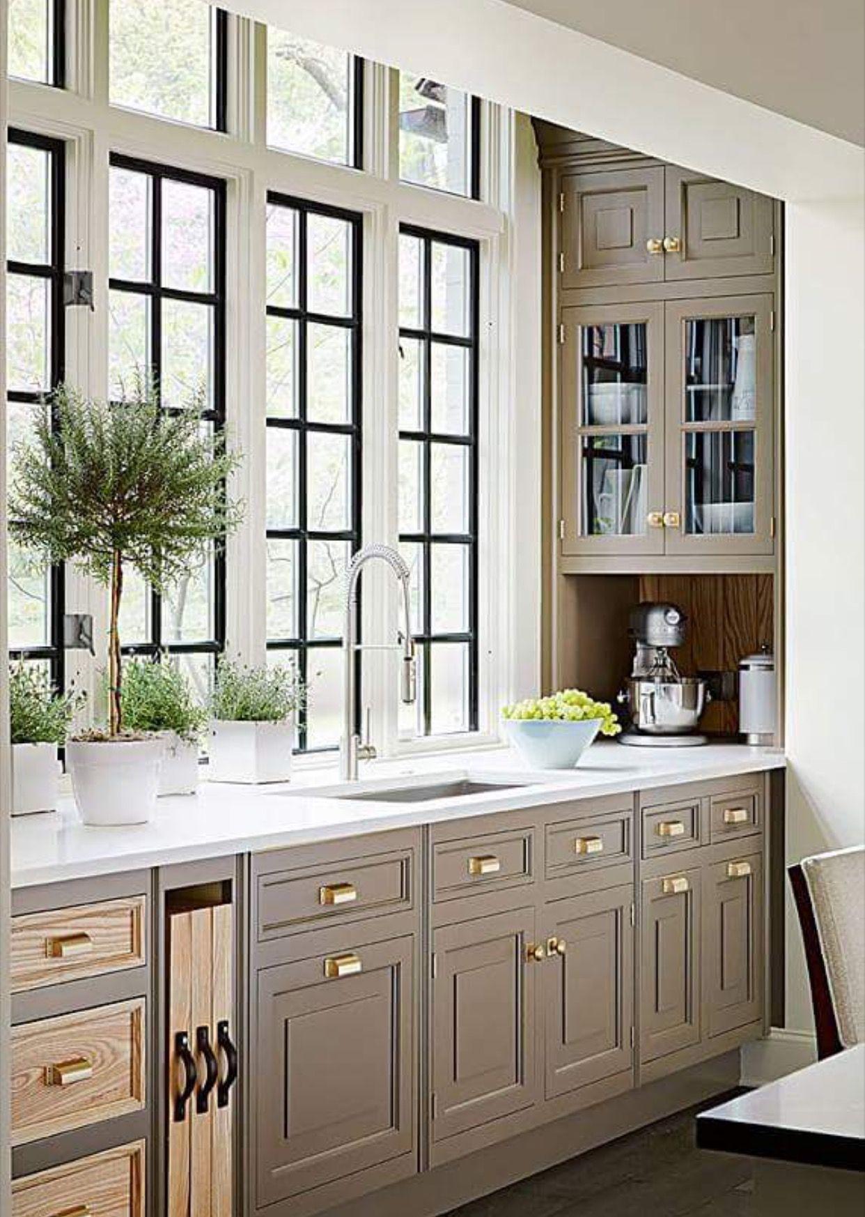 Gold pulls! | House | Pinterest | Cocinas