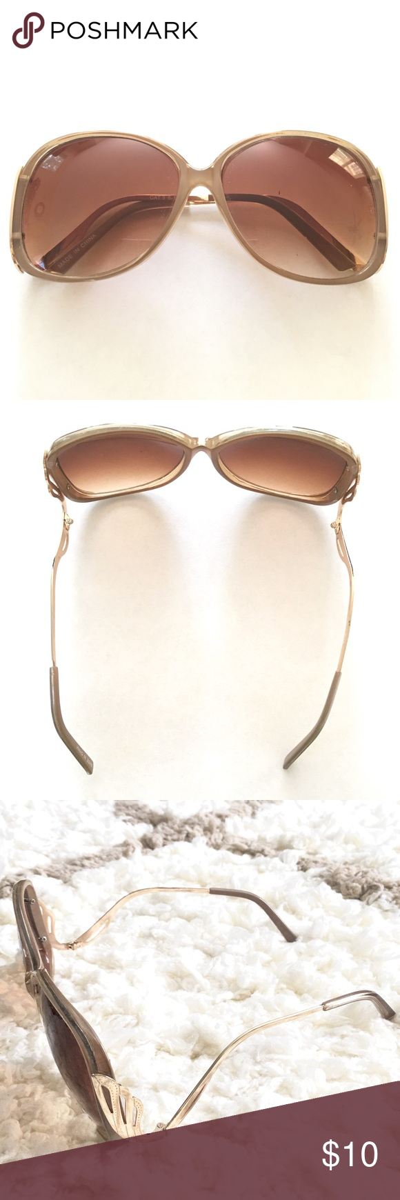 Brown Sunglasses Oversized Accessories Sunglasses