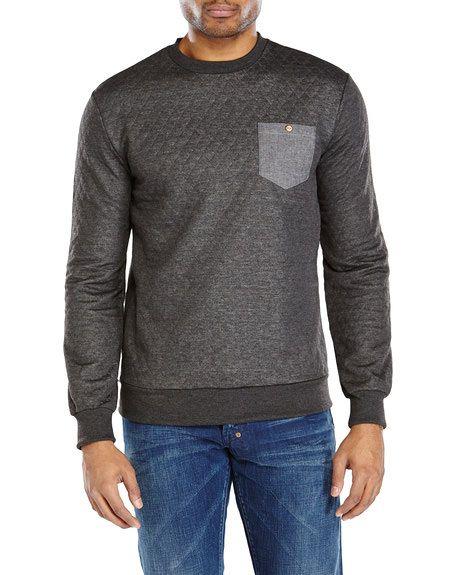 SOVEREIGN CODE Gravel Quilted Sweatshirt