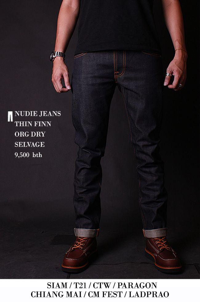 Nudie jeans Thin Finn ORG dry Selvage  15e3daa3a55e