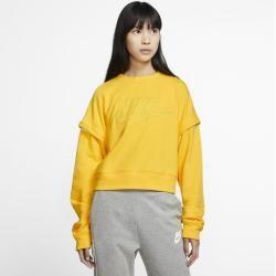 Photo of Nike Women's Fleece Crew Neck Shirt – Yellow Nike