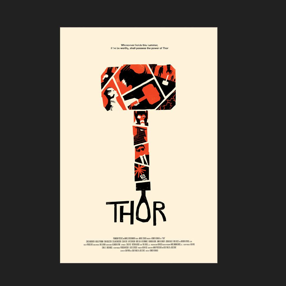 another Thor's illustration by Olly Moss
