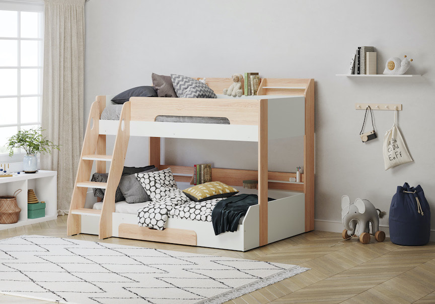 What Age Can A Child Sleep On A Top Bunk Bed Don T Cramp Our Style Big Ideas For Tiny Spaces Bunk Beds Single Bunk Bed Triple Bunk Bed